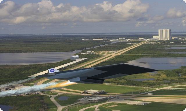 Ce que pourrait être les nouveaux vaisseaux de la NASA et leurs rampes de lancements atypiques.
