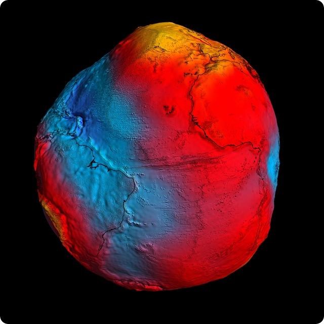 Géoïde : Le satellite GOCE révèle que notre planète ressemble à une pomme de Terre.