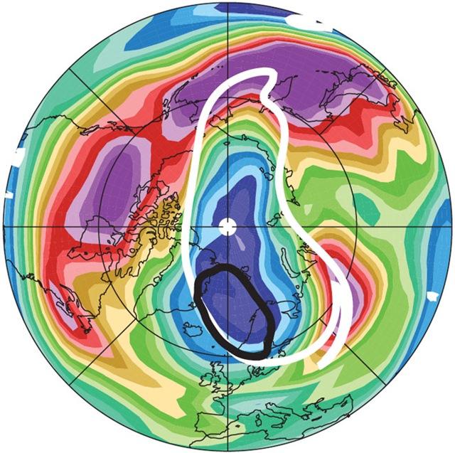 Un trou g ant dans la couche d ozone s est form pour la premi re fois au dessus de l arctique - Trou de la couche d ozone ...
