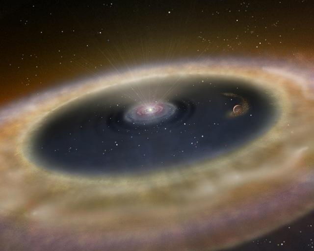 Burning lithium inside a star (artist's impression)
