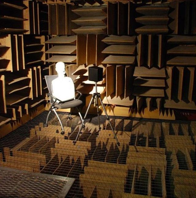 Dans cette chambre acoustique vous devenez le son, avant de devenir fou.