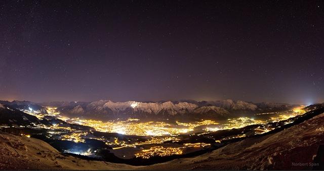 Stars above Innsbruck