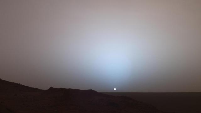 Pourquoi le coucher de soleil martien est bleu - Mars sunset wallpaper ...