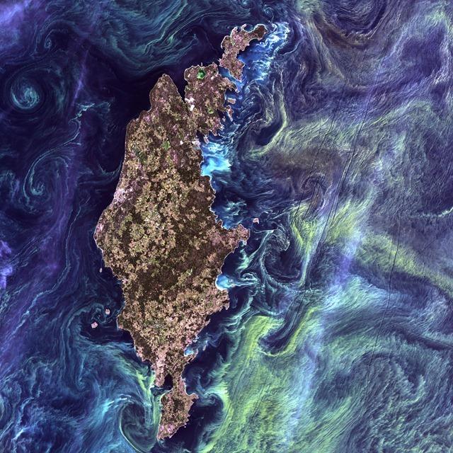 Gotland,-Suède-Landsat