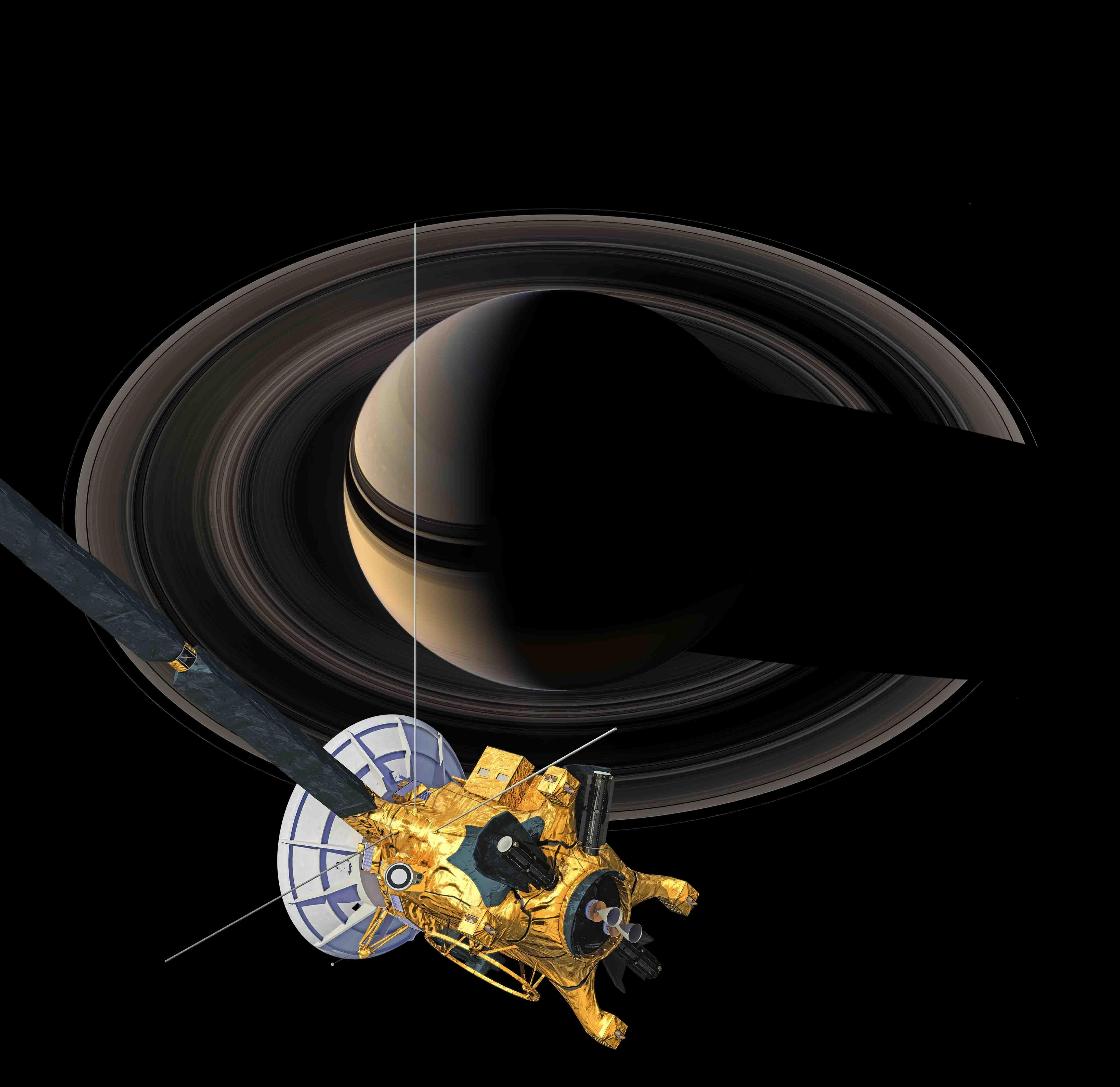 Cassini un blouissant regard sur un lent et lointain for Un lointain miroir