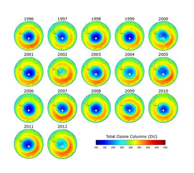 Une nouvelle ère glaciaire débutera en 2014 Couche-ozone1