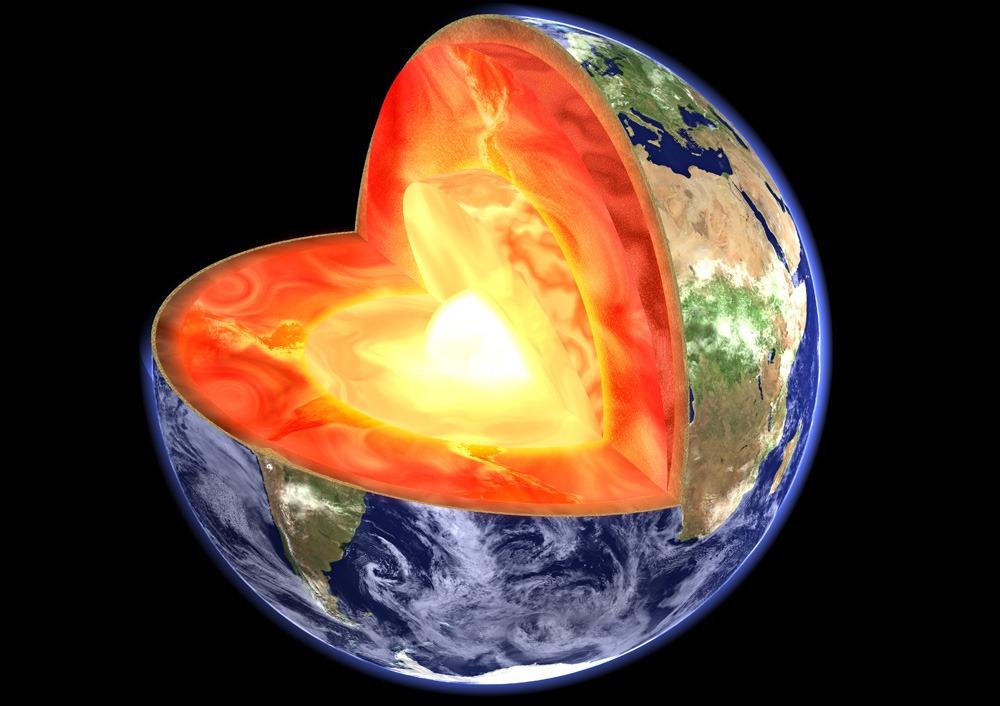 Le centre de la terre serait aussi brulant que la surface for Interieur de la terre
