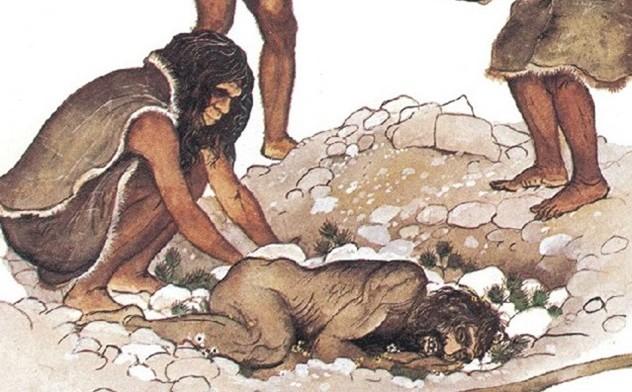Effectivement, l'homme de Néandertal enterrait ses morts