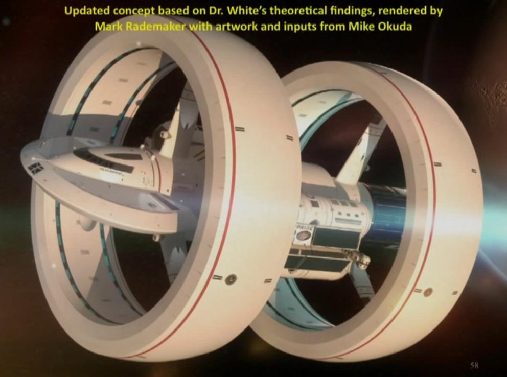 Admirez ce magnifique concept d un vaisseau spatial plus - Plus rapide que la lumiere ...