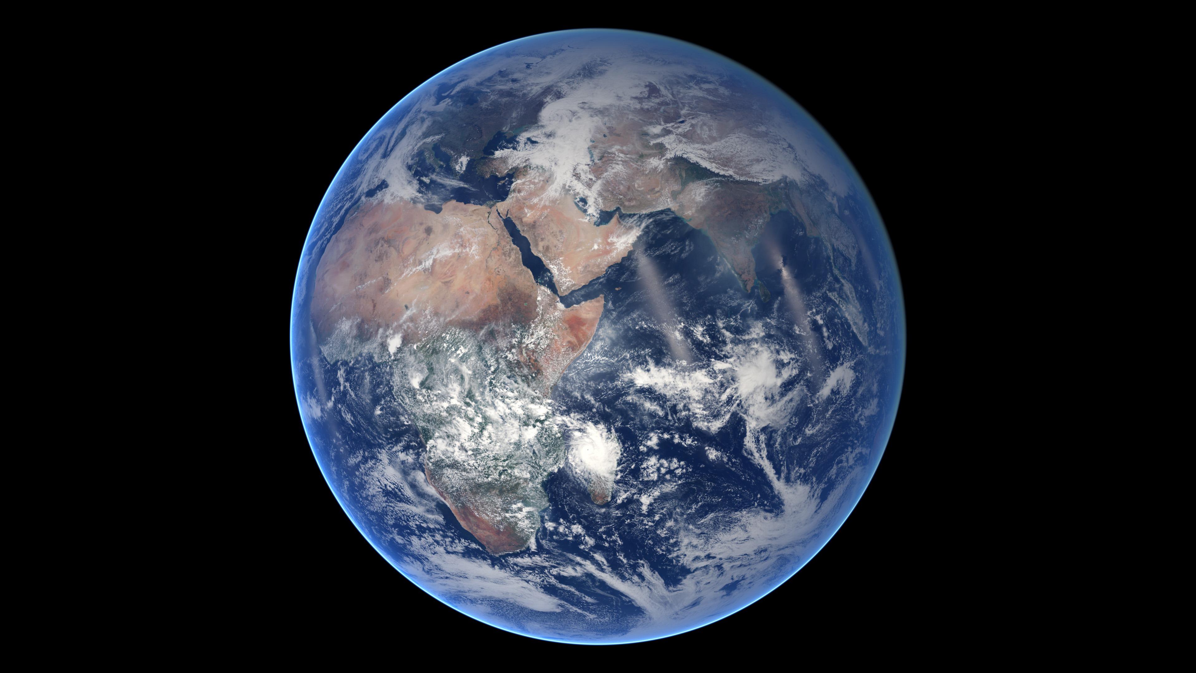 L'hémisphère Est de la grosse bille bleue