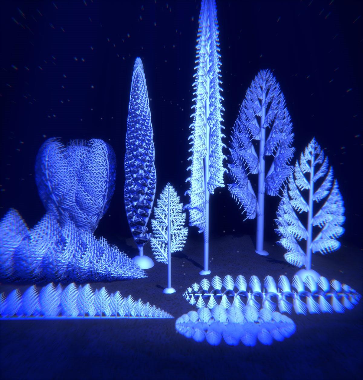 Les créatures préhistoriques aux formes de fractales
