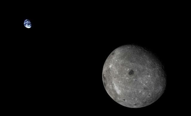 Un vaisseau spatial d'essai chinois a pris cette belle image de la Terre et de la Lune réunies