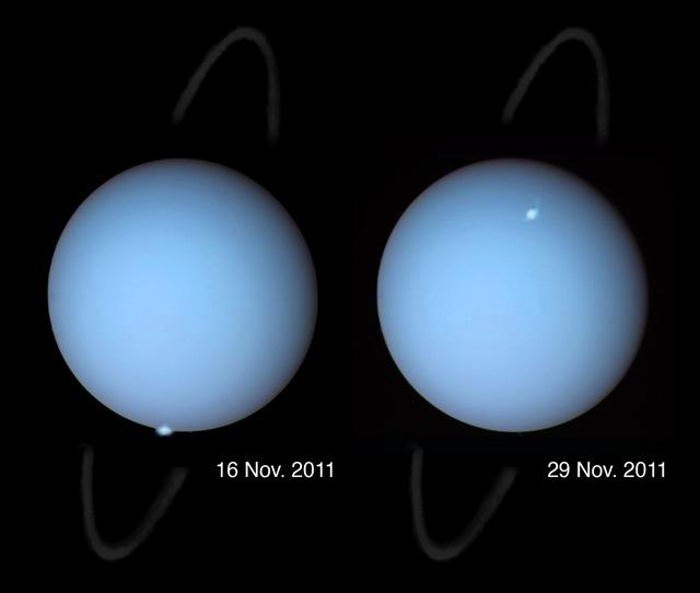 Des aurores polaires repérées pour la première fois sur Uranus.
