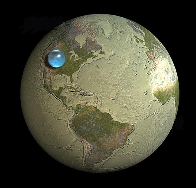 L'image du jour : si vous mettiez toute l'eau de cette planète dans une seule sphère.