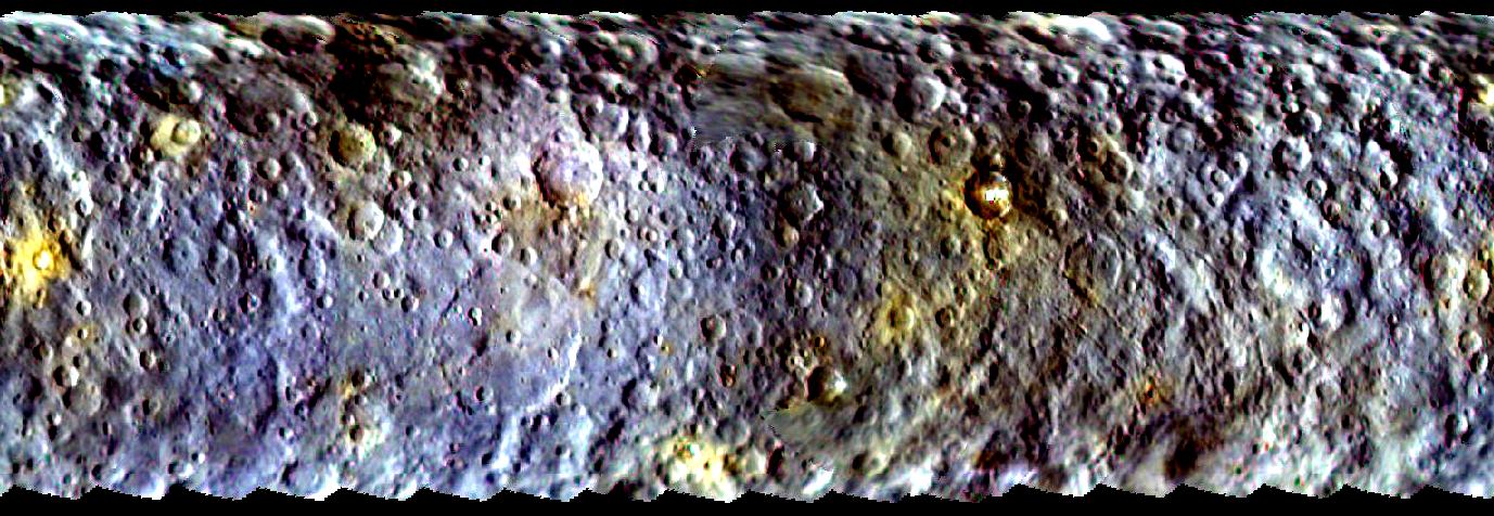La première carte couleur de la surface de la planète naine Cérès