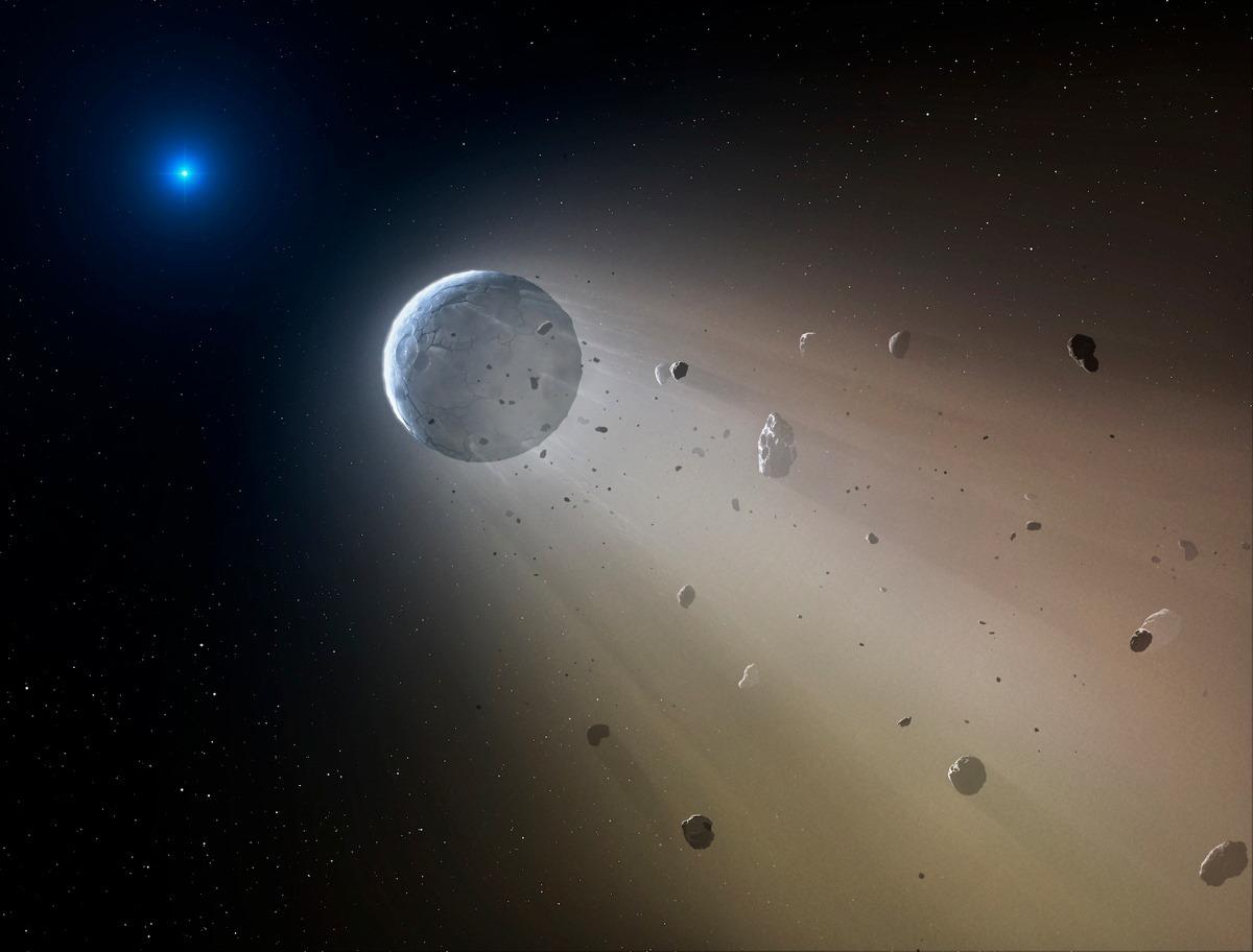 Fin d'un système : quand une étoile vaporise sa propre planète