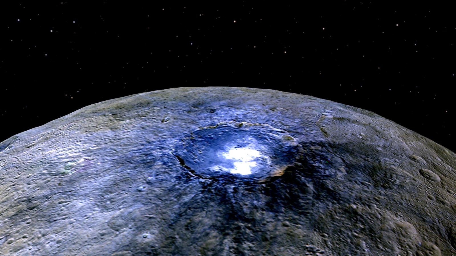 Les taches lumineuses sur la planète naine Cérès sont très probablement du sel