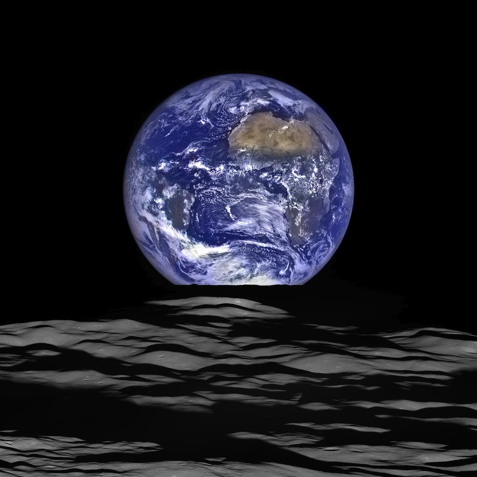 Le plus beau lever de Terre depuis la Lune