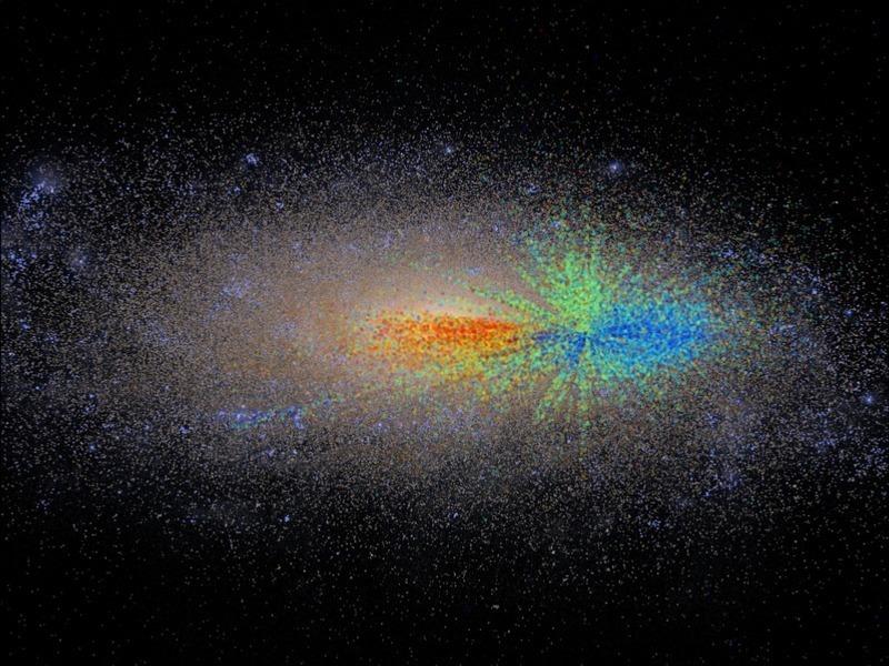 La carte dévoilant l'âge des étoiles de notre galaxie révèle comment elle s'est développée
