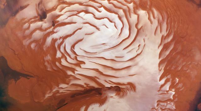 Il y aurait des tempêtes de neige nocturne sur Mars