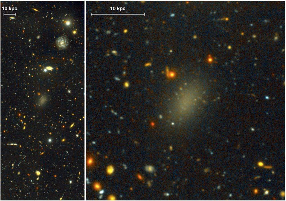 Une galaxie aussi grande que la nôtre et composée à 99,99% de matière noire