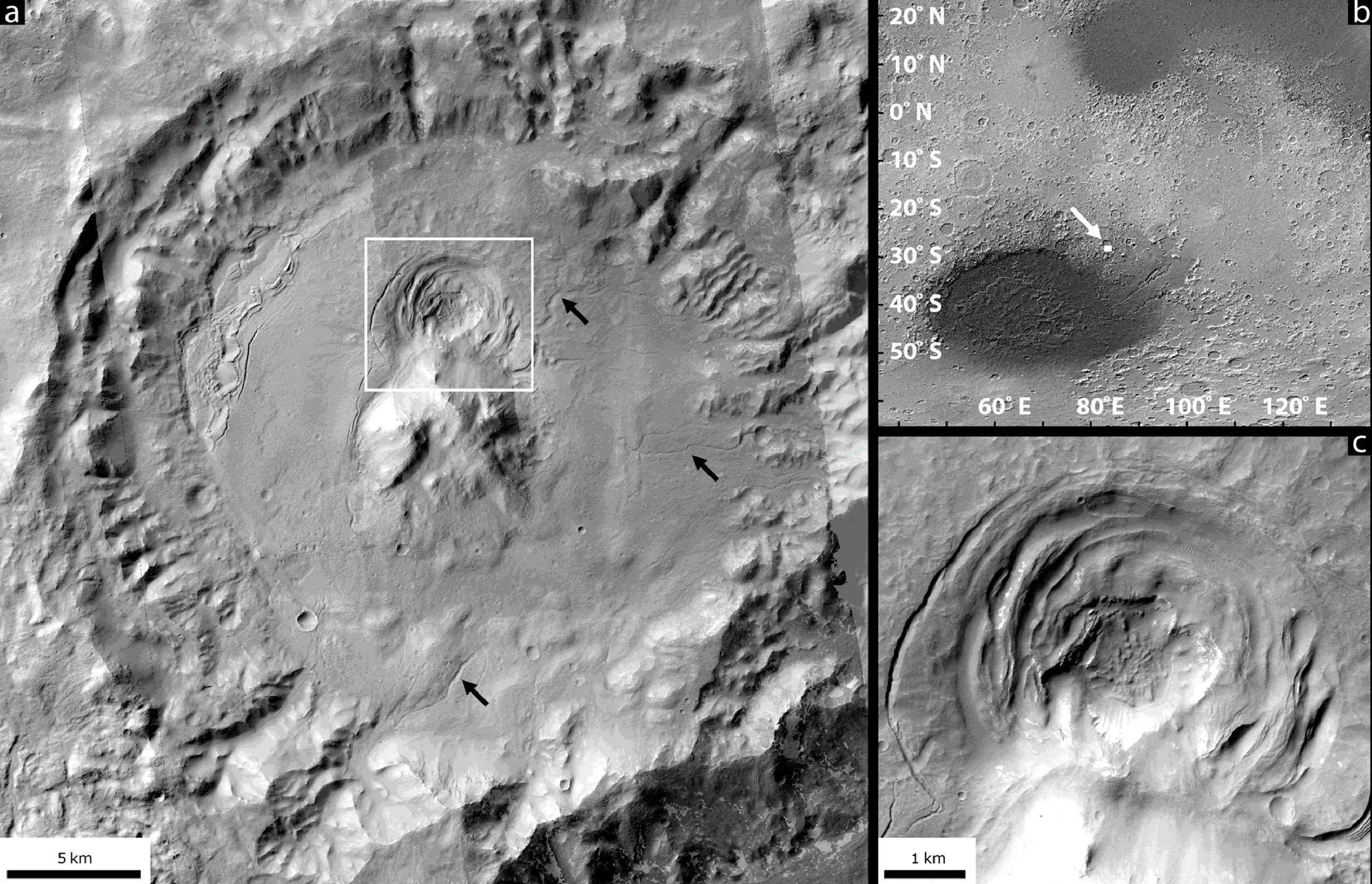 Des chaudrons sous-glaciaires pourraient-ils entretenir la vie sur Mars ?