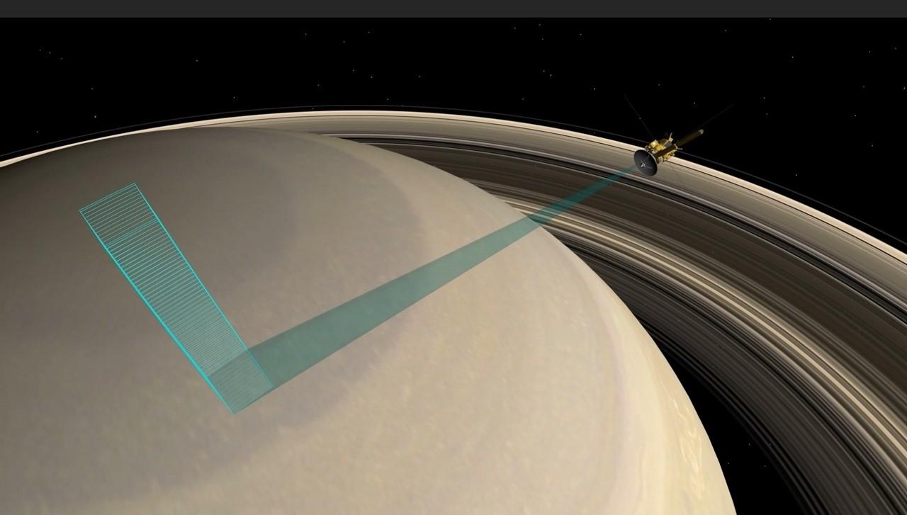 La vidéo de la sonde Cassini plongeant entre Saturne et ses anneaux