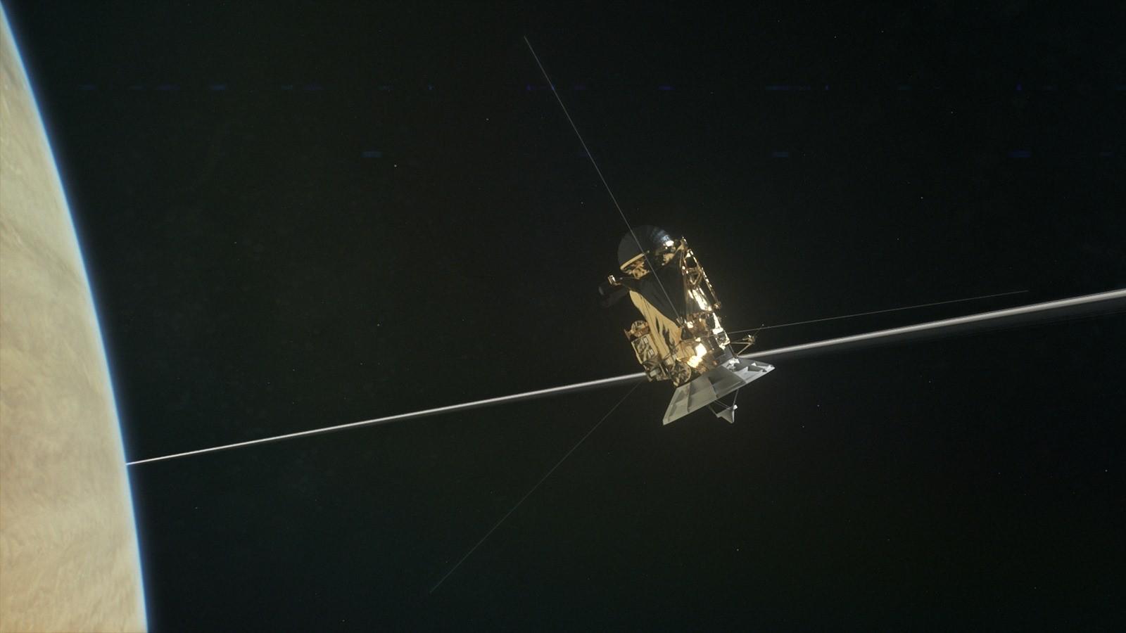 La sonde Cassini n'a pas entendu grand-chose en passant entre Saturne et ses anneaux et c'est plutôt bon signe