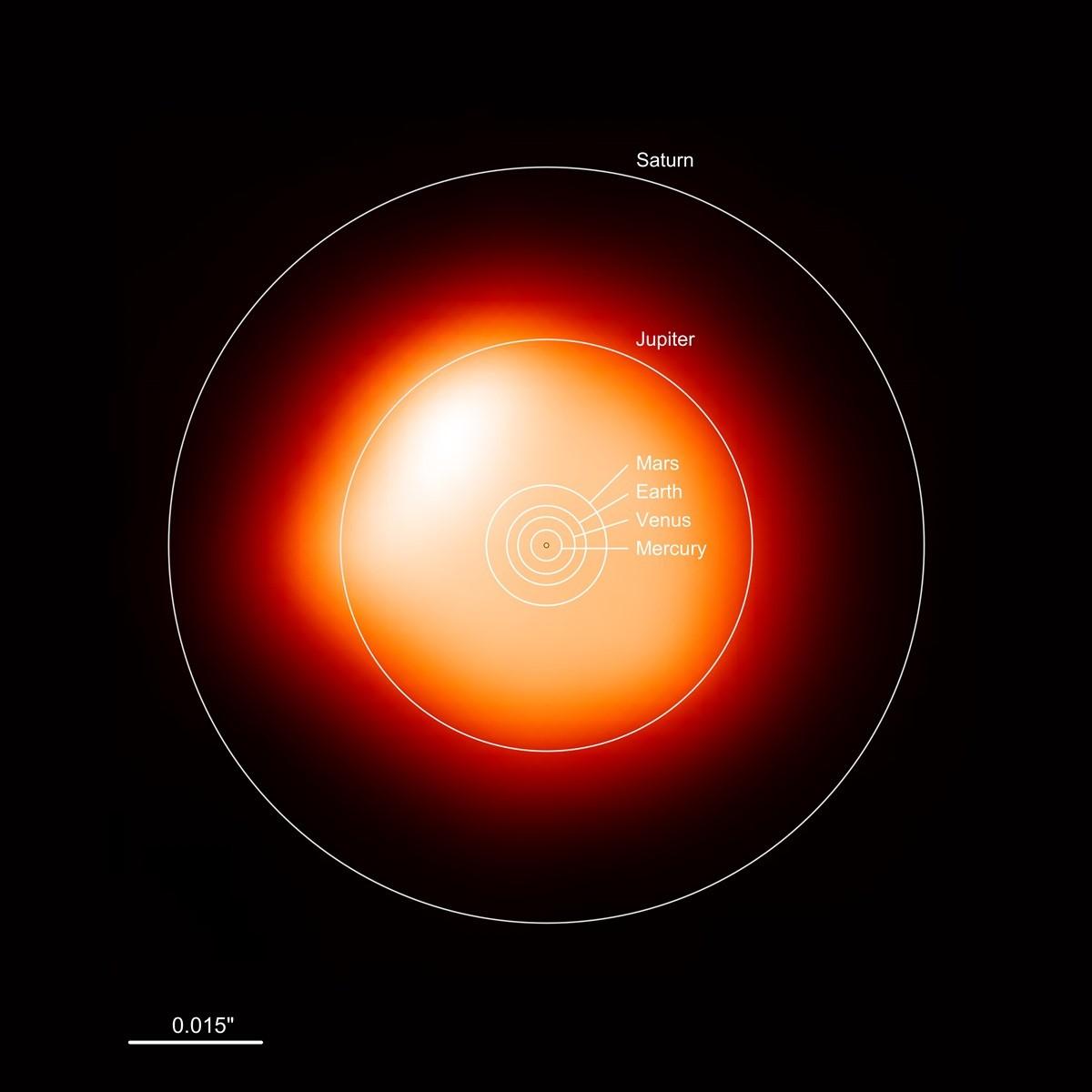 Marre du soleil voici la plus belle image d une toile de b telgeuse 1400 - La plus belle etoile ...