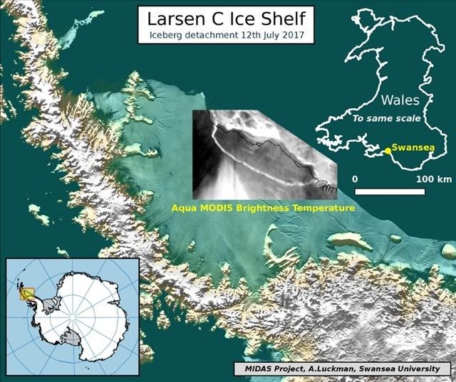 Larsen C iceberg Sat