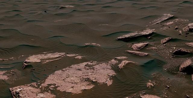Mars dune Curiosity