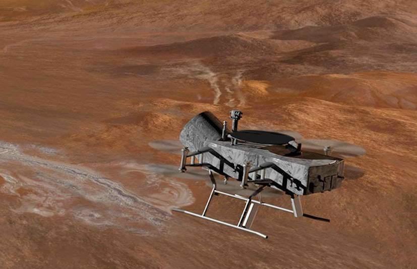 Ce drone pourrait explorer le mystérieux océan de la lune de Saturne, Titan