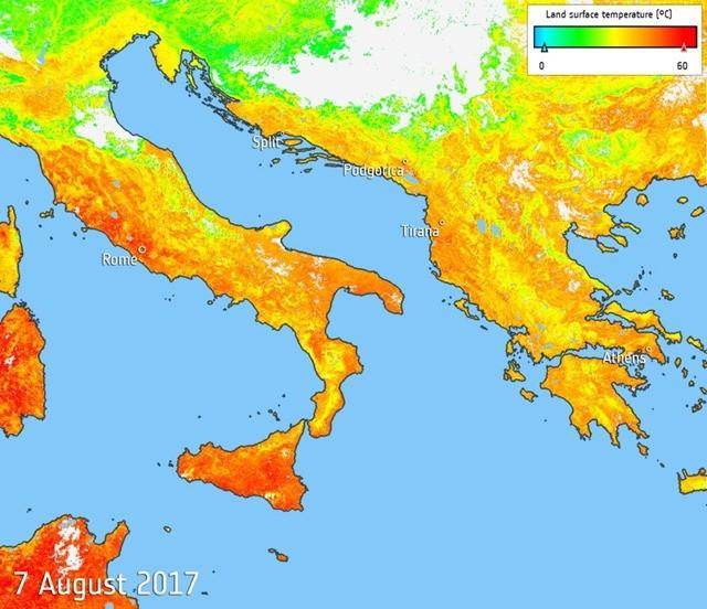"""Les italiens surnomment leurs nouvelles vagues de chaleur """"Lucifer"""""""