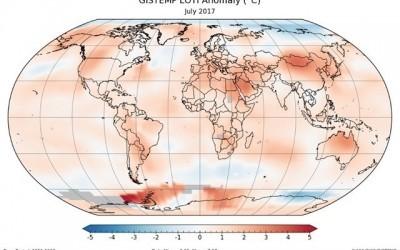 Ce mois de juillet a atteint le précédent record de température selon la NASA
