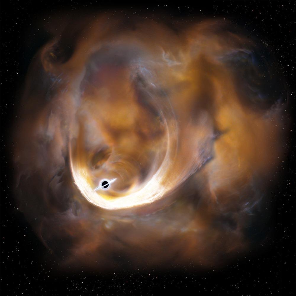 nuage moleculaire-trou noir
