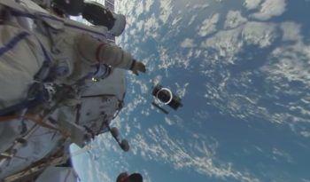 Première vidéo en 360° d'une sortie dans l'espace