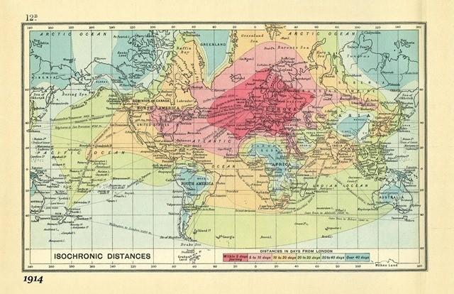 carte isochronique-1914