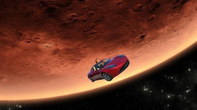 Space X-Elon Musk Tesla MARS