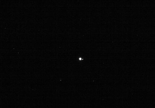 La Terre et la Lune photographiées à une distance de 63 millions de kilomètres