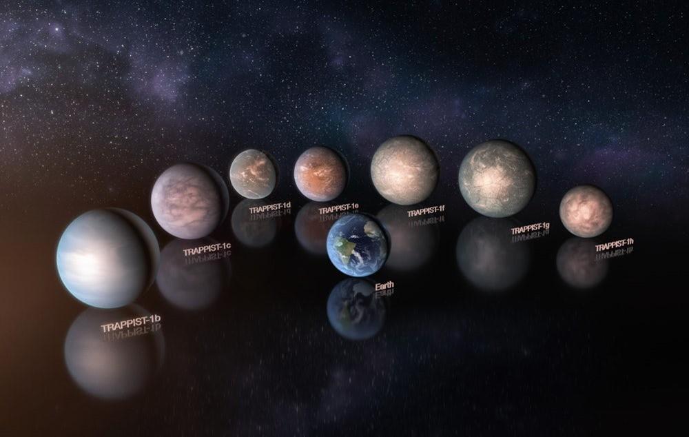 Les planètes du système TRAPPIST-1 seraient des mondes rocheux et aquatiques